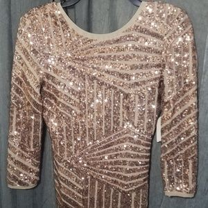 Forever21 gold sequined dress